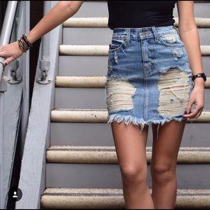 Carmar Denim destroyed skirt